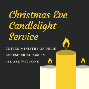 Please join us for our Candlelight Christmas Eve service, Dec. 24, 7:30 pm